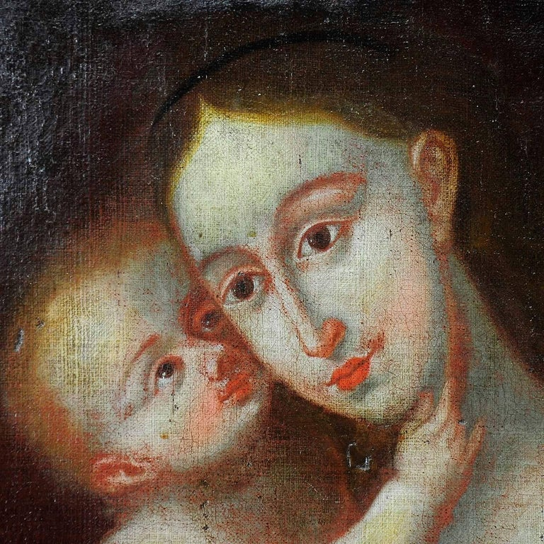 Unknown, Miraculous Image of Innsbruck Maria with Child after Cranach In Good Condition For Sale In Berghuelen, DE