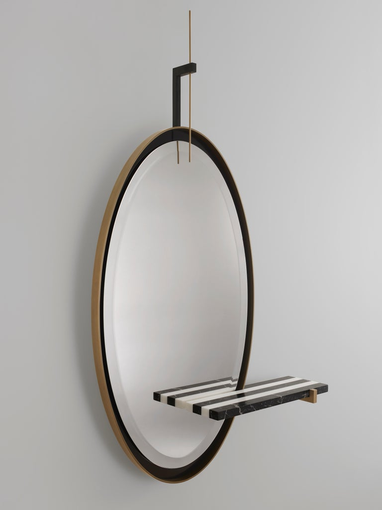 French 'Ellipse' Mirror by Isabelle Stanislas For Sale