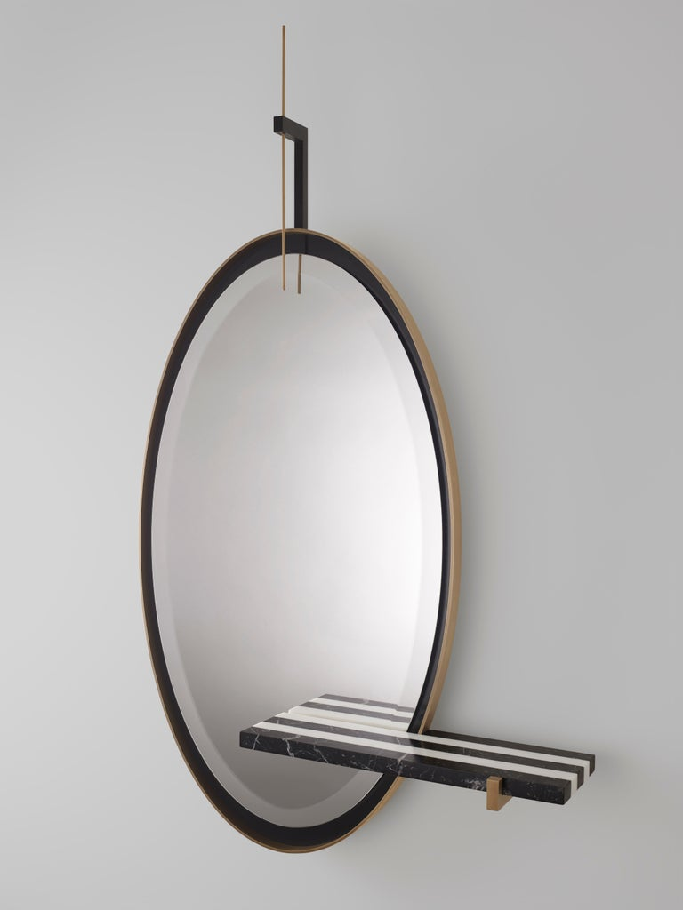 Beveled 'Ellipse' Mirror by Isabelle Stanislas For Sale