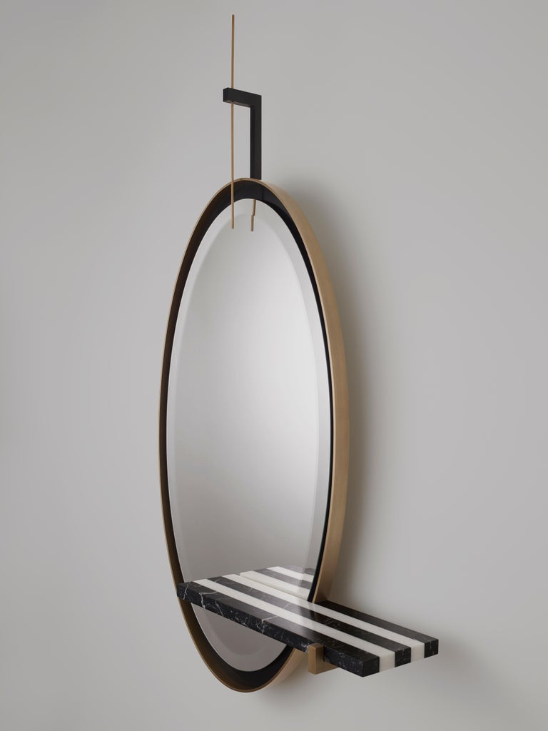 'Ellipse' Mirror by Isabelle Stanislas In New Condition For Sale In Paris, FR