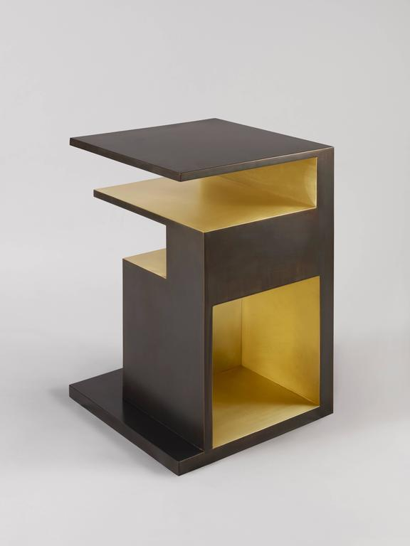 Chinese 'XiangSheng II Side Table', an Elegant Bronze Table by Studio MVW - In Stock For Sale