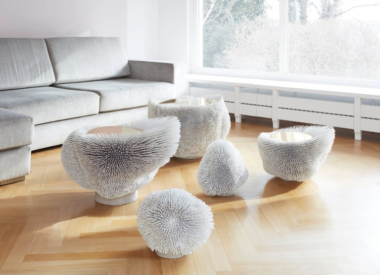 Contemporary Large 'Sea Anemone' Side Table Handcrafted by Pia Maria Raeder For Sale