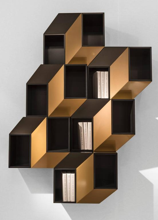 'Cinétisme I' by French Lebanese Charles Kalpakian is a hypnotic wall cabinet in lacquered wood flirting with Op Art and the spirit of Vasarely.   Unexpected and immediately eye-catching in the true sense of the word, 'Cinétisme I' establishes