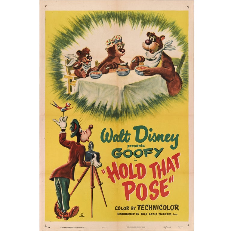 """""""Hold That Pose"""" Original US Film Poster For Sale"""