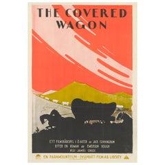 "Covered Wagon"" Original Swedish Film Poster"