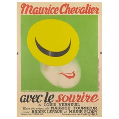 "Avec le Sourire"" Original French Film Poster"