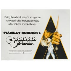 """A Clockwork Orange"" Original British Movie Poster"