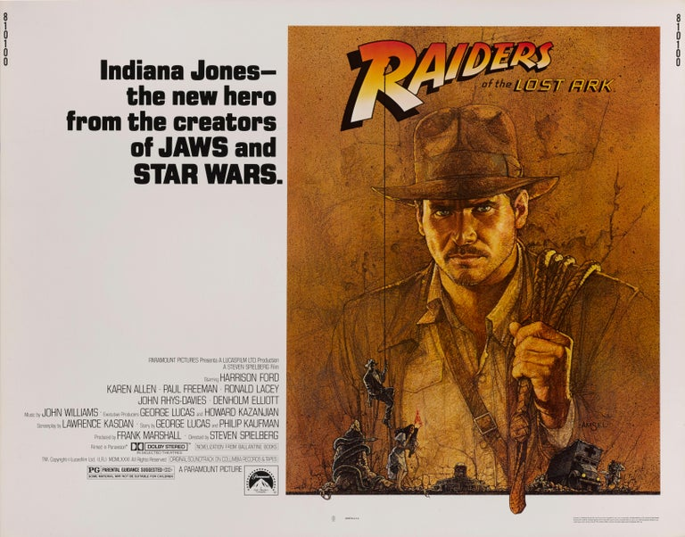 Raiders of the Lost Ark In Excellent Condition For Sale In London, GB