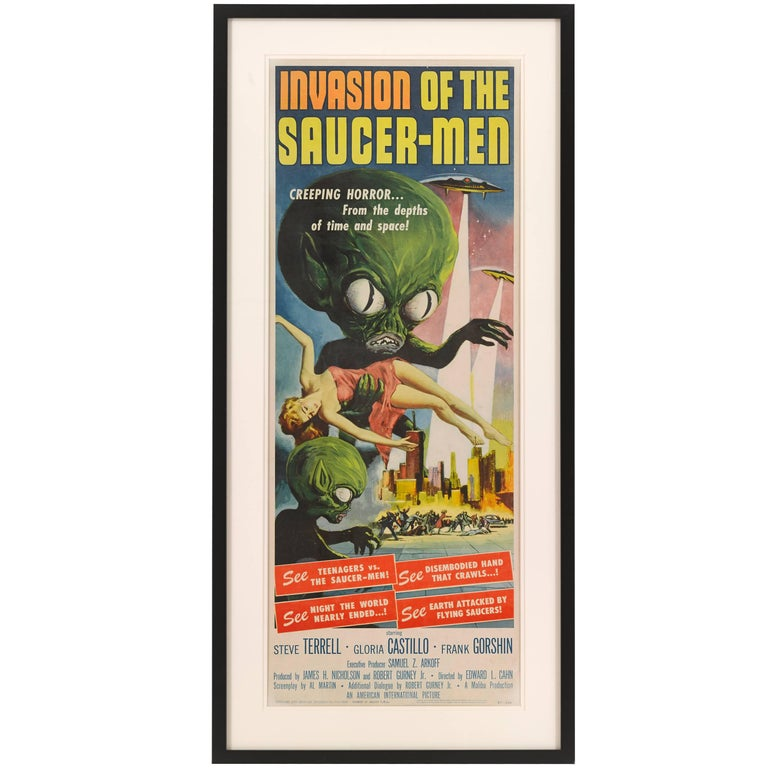 """""""Invasion of the Saucer Men"""" Movie Poster For Sale"""