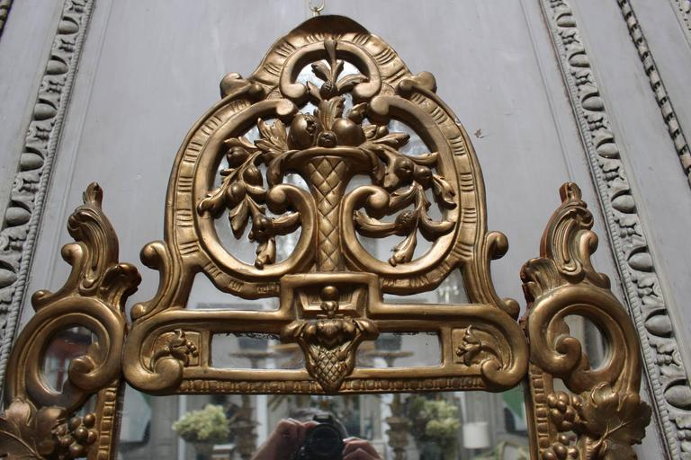 Régence A French Regence Style Small Scaled Gilt Wood Mirror For Sale