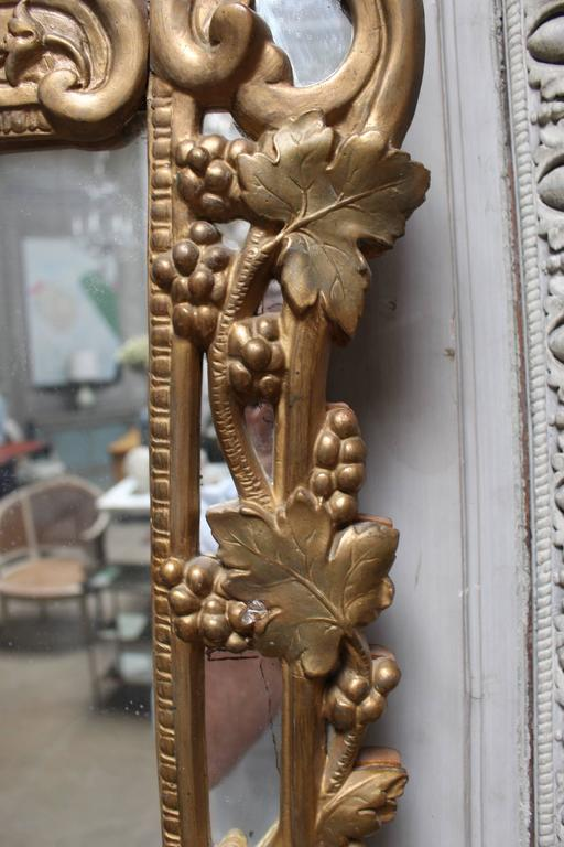 A French Regence Style Small Scaled Gilt Wood Mirror For Sale 2