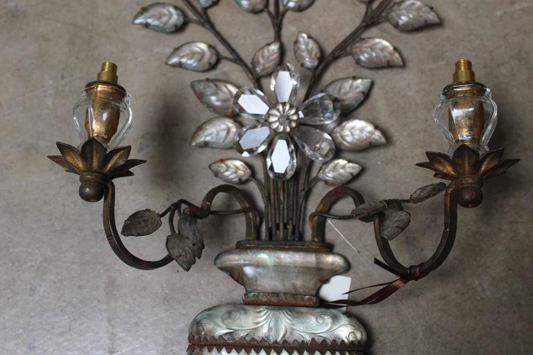 Pair of Early Bagues Sconces In Good Condition For Sale In Dallas, TX
