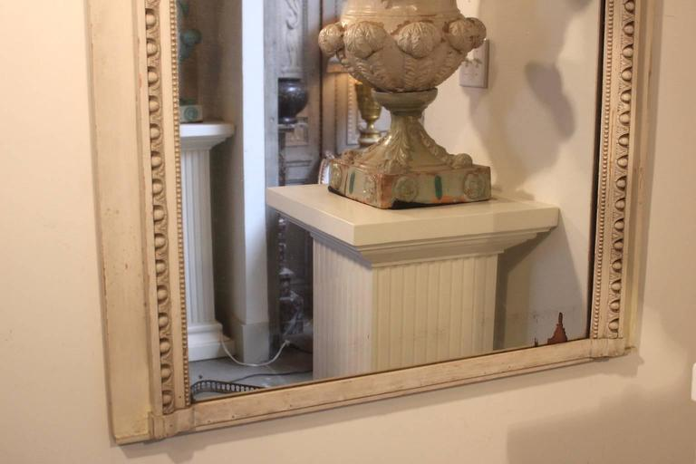 French Louis XVI Style Trumeau Mirror with a Painted Finish For Sale 5