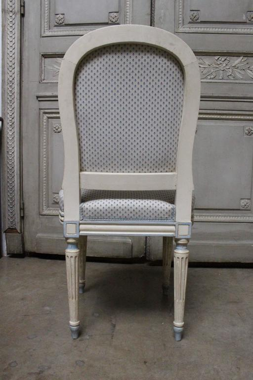 Suite of Ten French Louis XVI Style Dining Chairs In Good Condition For Sale In Dallas, TX