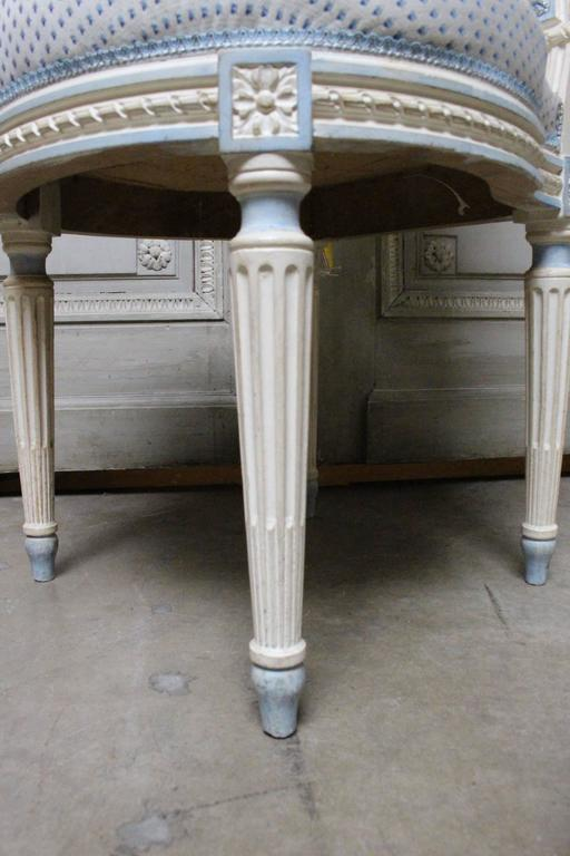 Suite of Ten French Louis XVI Style Dining Chairs For Sale 2