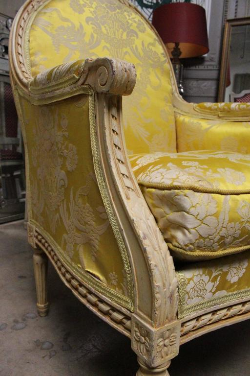20th Century Very Large Pair of French Louis XVI Style Bergeres For Sale