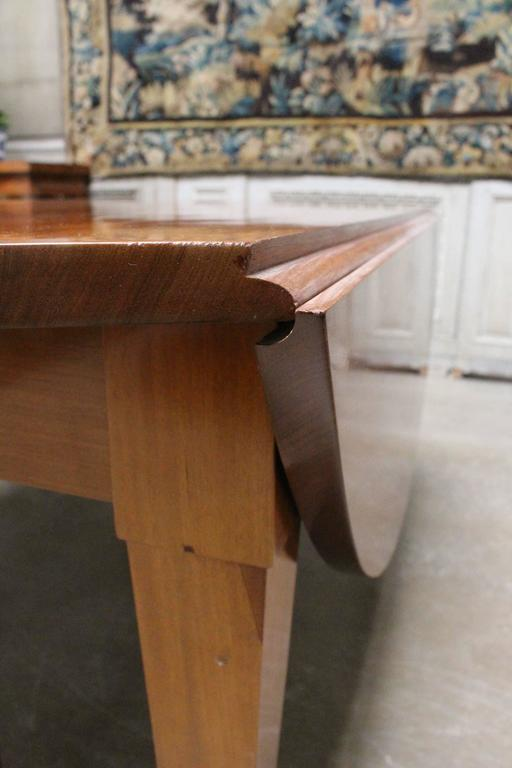 French Louis XVI Mahogany Extension Dining Table For Sale 6