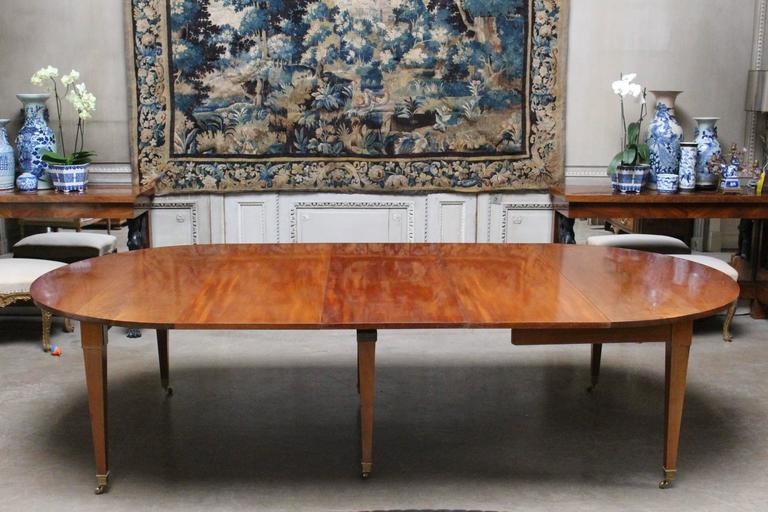 French Louis XVI Mahogany Extension Dining Table For Sale 4