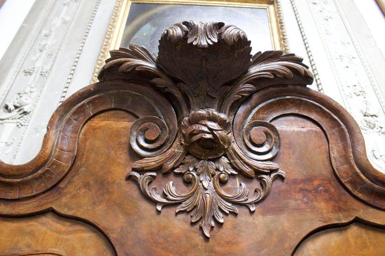 Dutch Rococo Burled Walnut Cabinet In Good Condition For Sale In Dallas, TX
