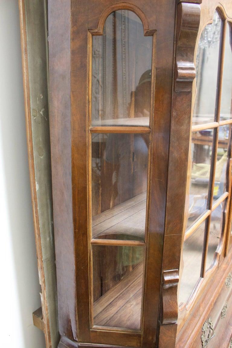 Dutch Rococo Burled Walnut Cabinet For Sale 3