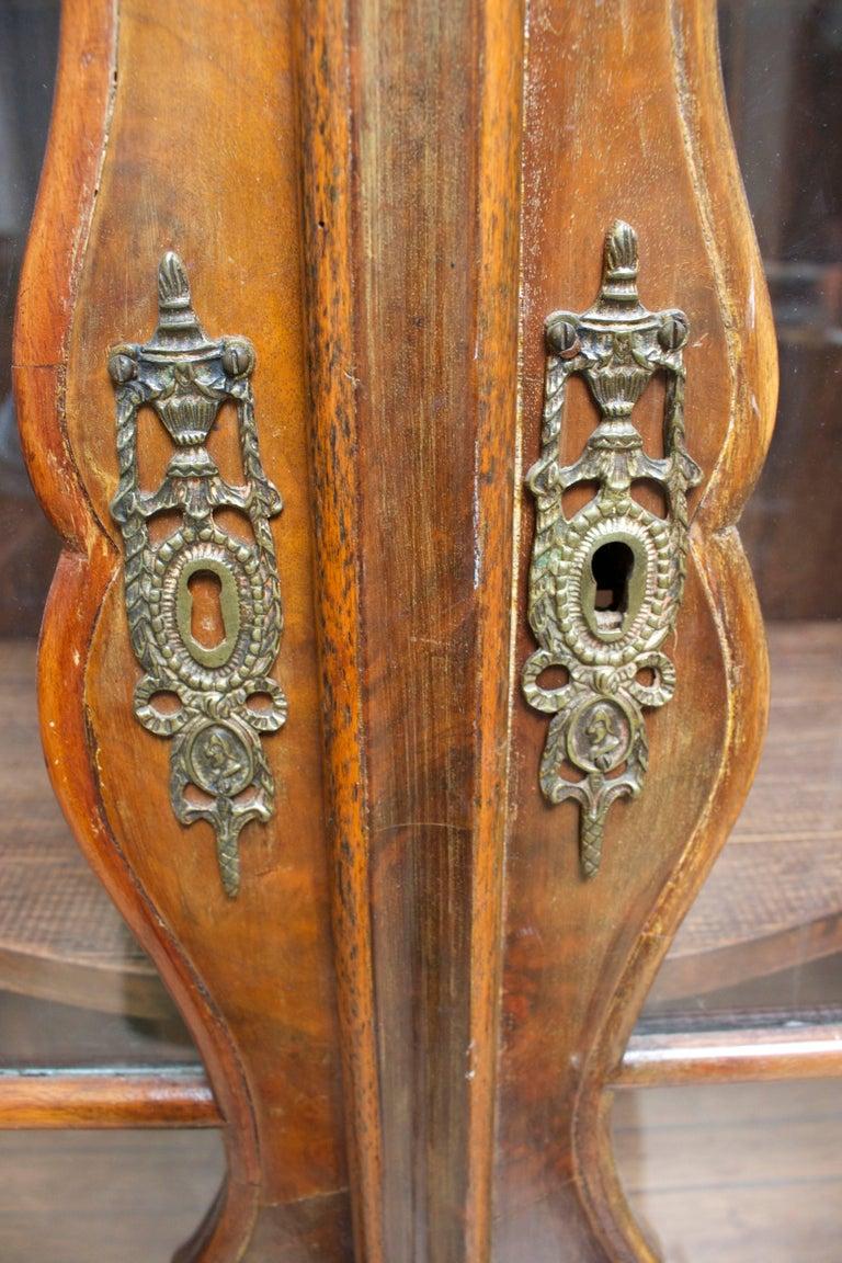 Dutch Rococo Burled Walnut Cabinet For Sale 4