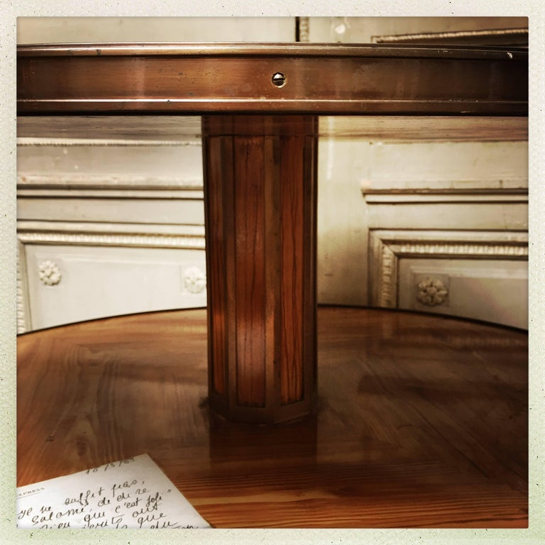 French Revolving Dumb Waiter with a Faux Bois Finish and Bronze Fittings In Good Condition For Sale In Dallas, TX