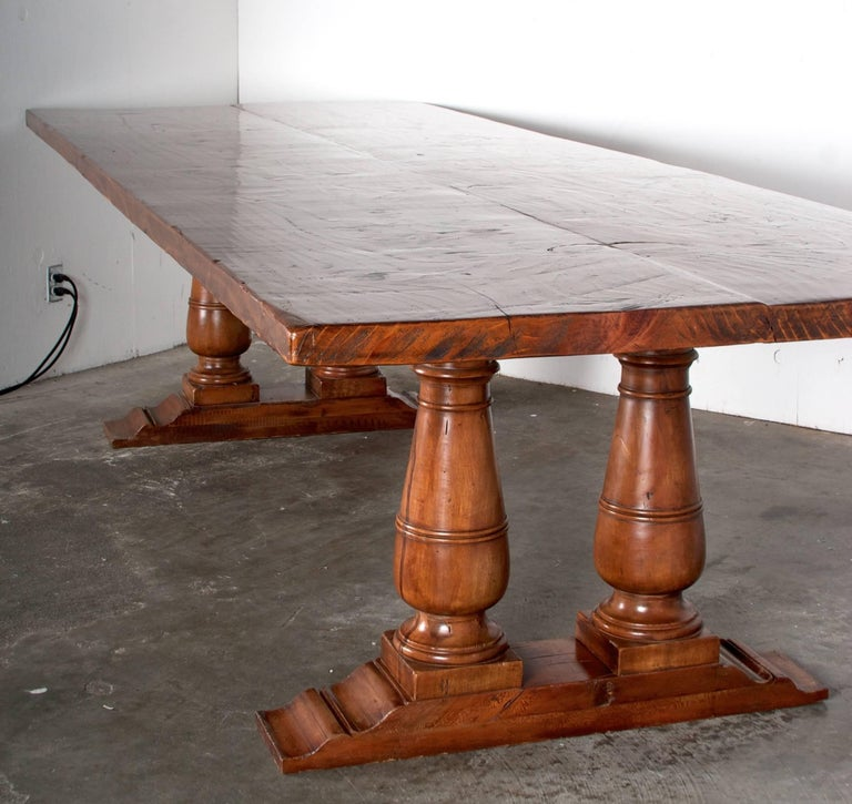 double pedestal farmhouse dining table at 1stdibs