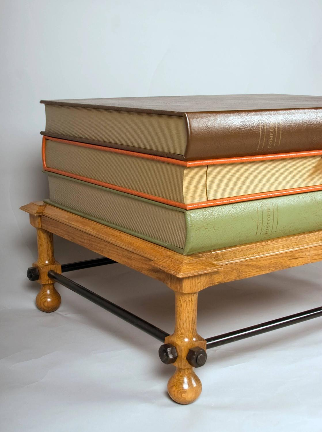 Stacked Books Coffee Table Or Side Table By John Dickinson, Circa 1969 For  Sale At 1stdibs