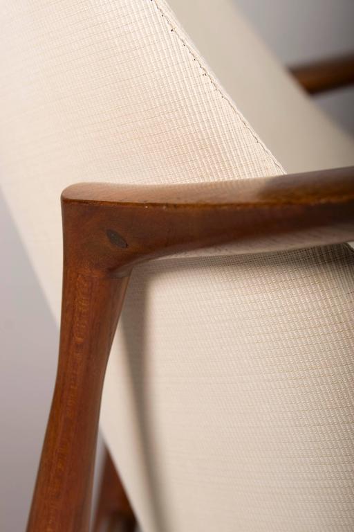 Teak Pair of Ib Kofod-Larsen Elizabeth Chairs and Ottomans, by Christensen or Larsen For Sale