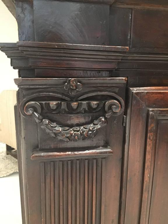 Early 17th Century Walnut Credenza/ Cabinet For Sale 1