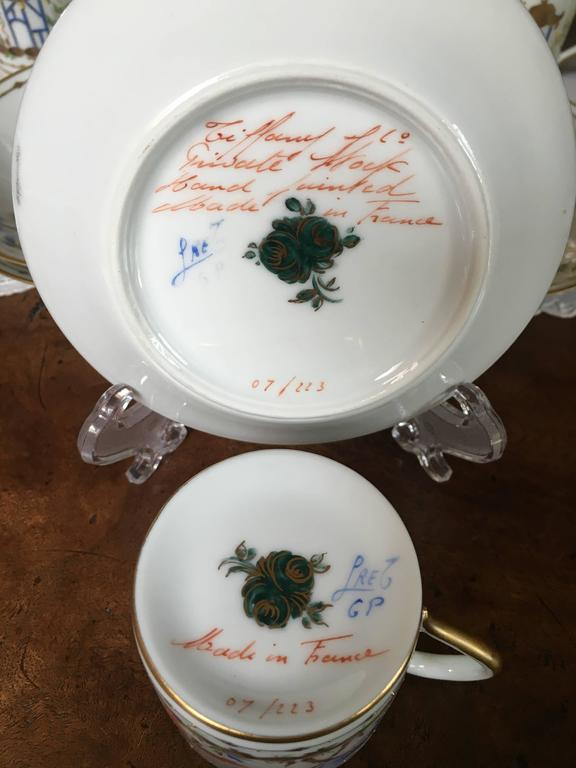 French 12 Tiffany-Le Tallec-Paris Cirque Chinois Demi Tasse, Very Rare For Sale