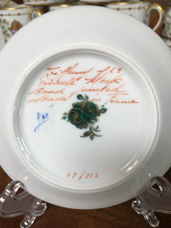 Crafted from Limoges porcelain, this hand-painted design was especially created for Tiffany & Co. by Camille Le Tallec, Le Tallec was purchased by
