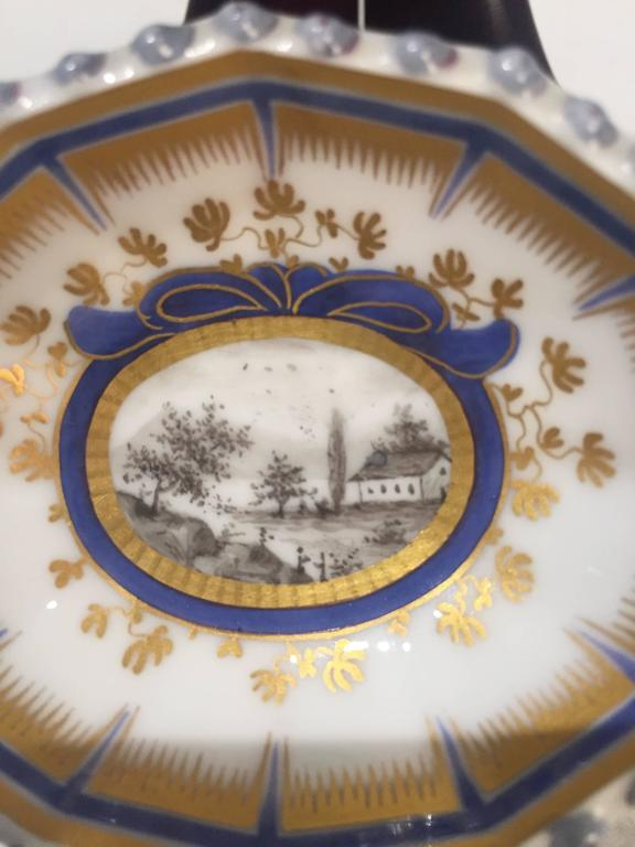Hand-Painted 19th Century Nymphenburg Master Salt Cellars, Pair For Sale
