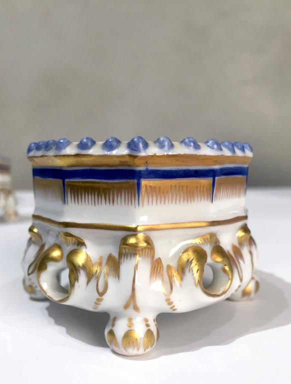 Porcelain 19th Century Nymphenburg Master Salt Cellars, Pair For Sale