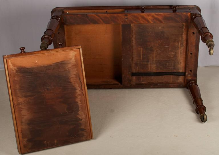 Early 19th Century Regency Mahogany Leather Top Desk 7