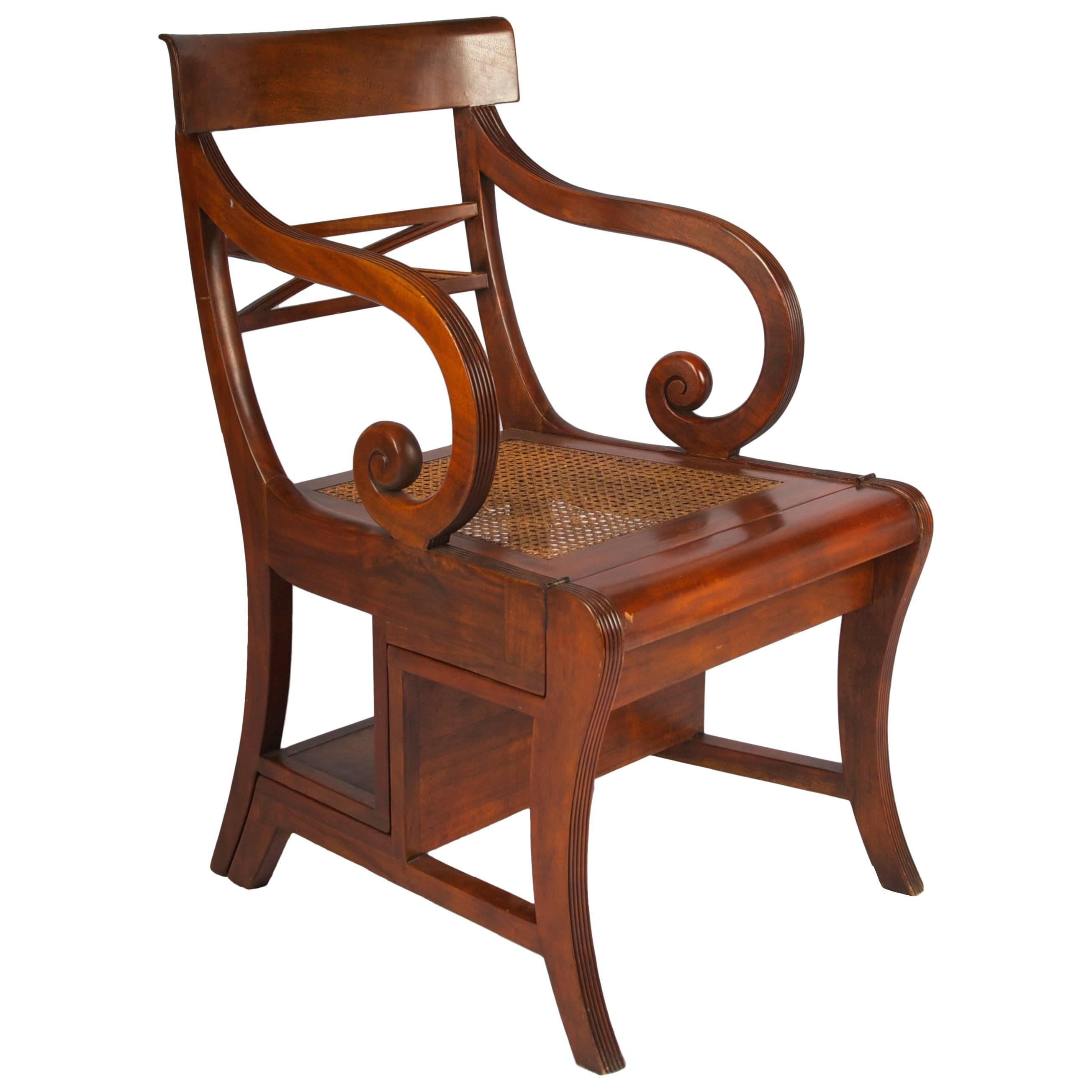 Late 19th Century Regency Style Metamorphic Armchair or Library Ladder