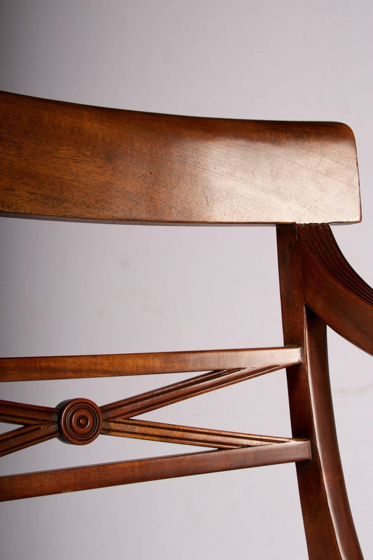 Early 20th Century Regency Style Metamorphic Armchair or Library Ladder For Sale 1