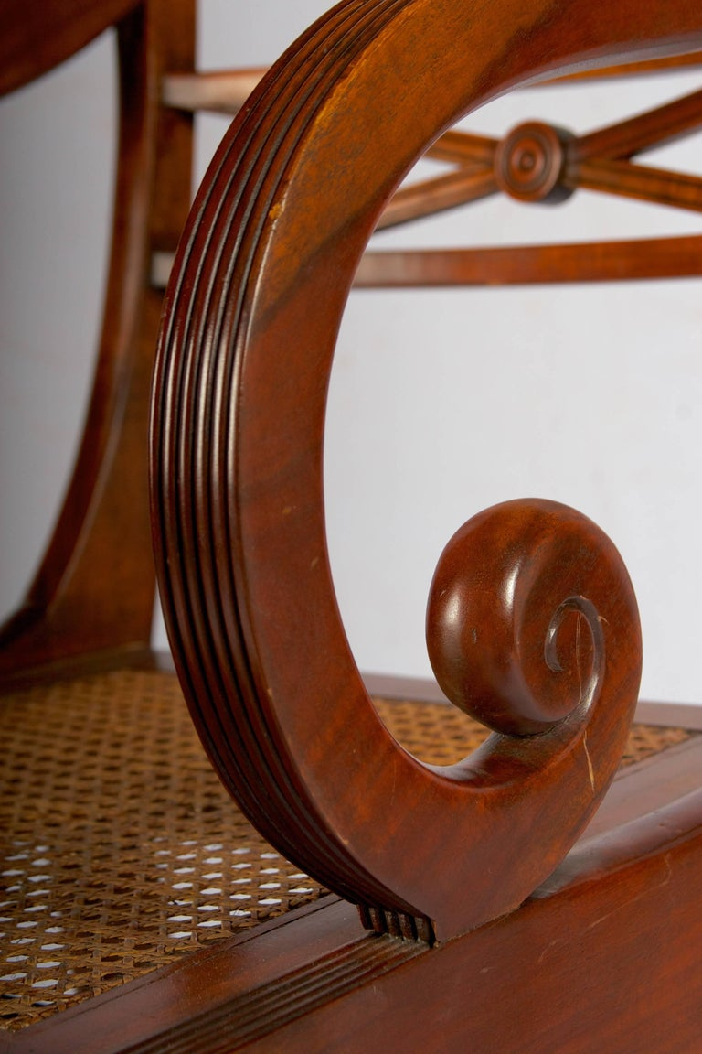 Early 20th Century Regency Style Metamorphic Armchair or Library Ladder For Sale 3