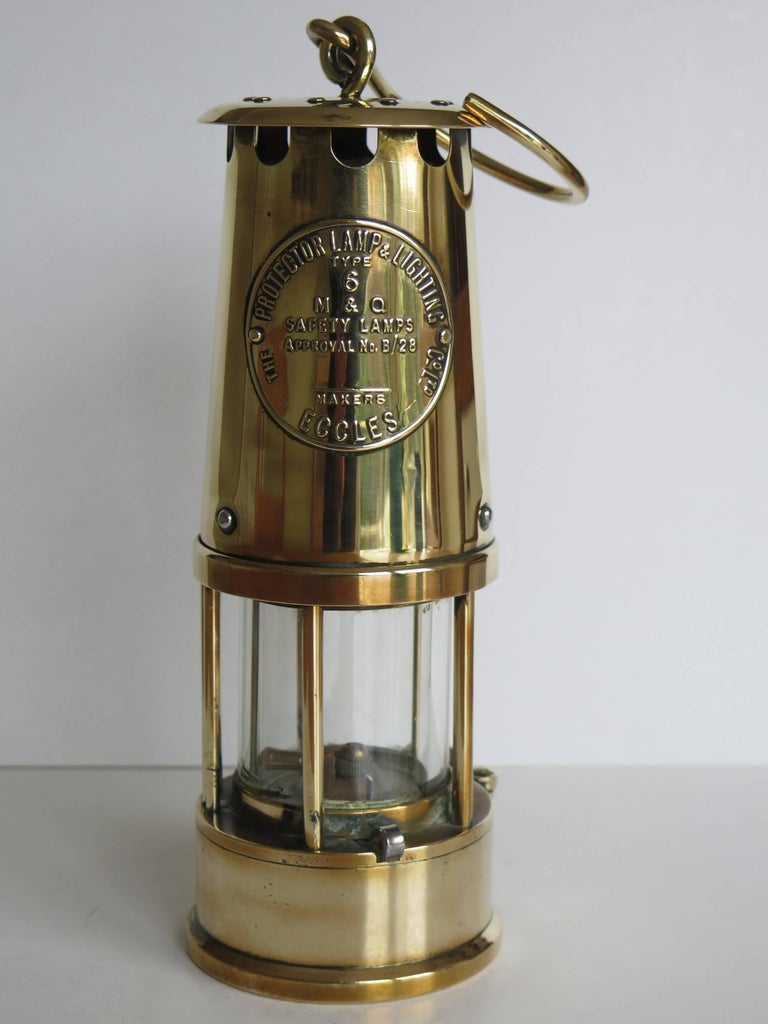 Miner S Lamp All Brass Eccles Type 6 Protector Lamp And