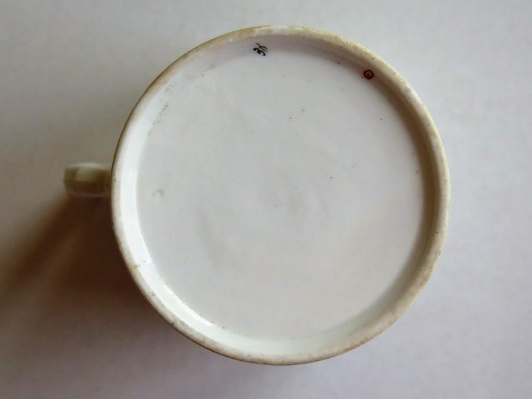 Very Early 19th Century Derby Porcelain Coffee Can Hand-Painted, circa 1800 For Sale 8