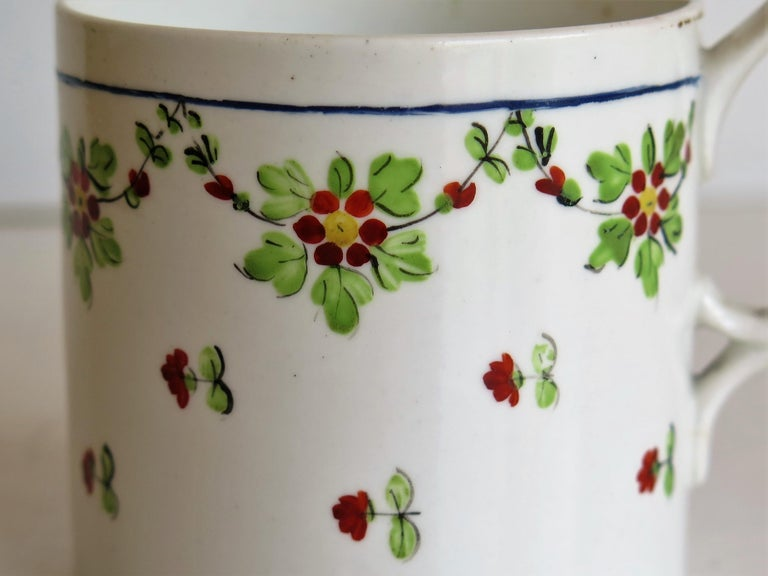 Very Early 19th Century Derby Porcelain Coffee Can Hand-Painted, circa 1800 For Sale 6