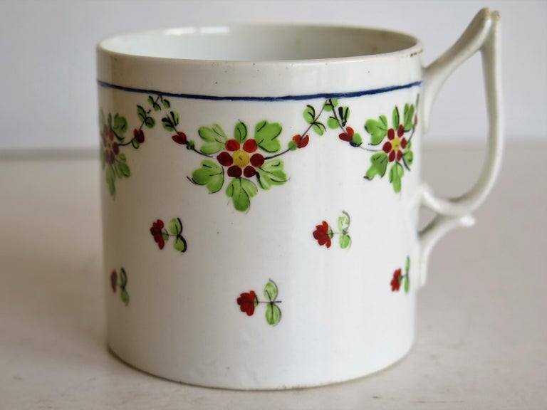 Very Early 19th Century Derby Porcelain Coffee Can Hand-Painted, circa 1800 For Sale 5