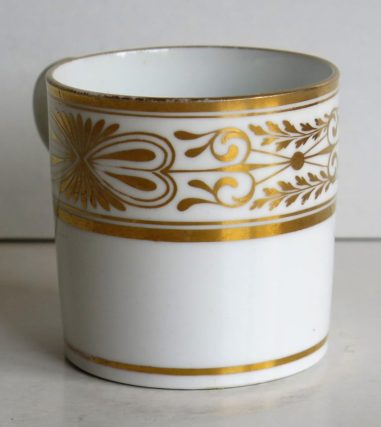 Early 19th Century Spode Porcelain Coffee Can Hand Gilded Pattern 1099, Ca 1810 For Sale 1