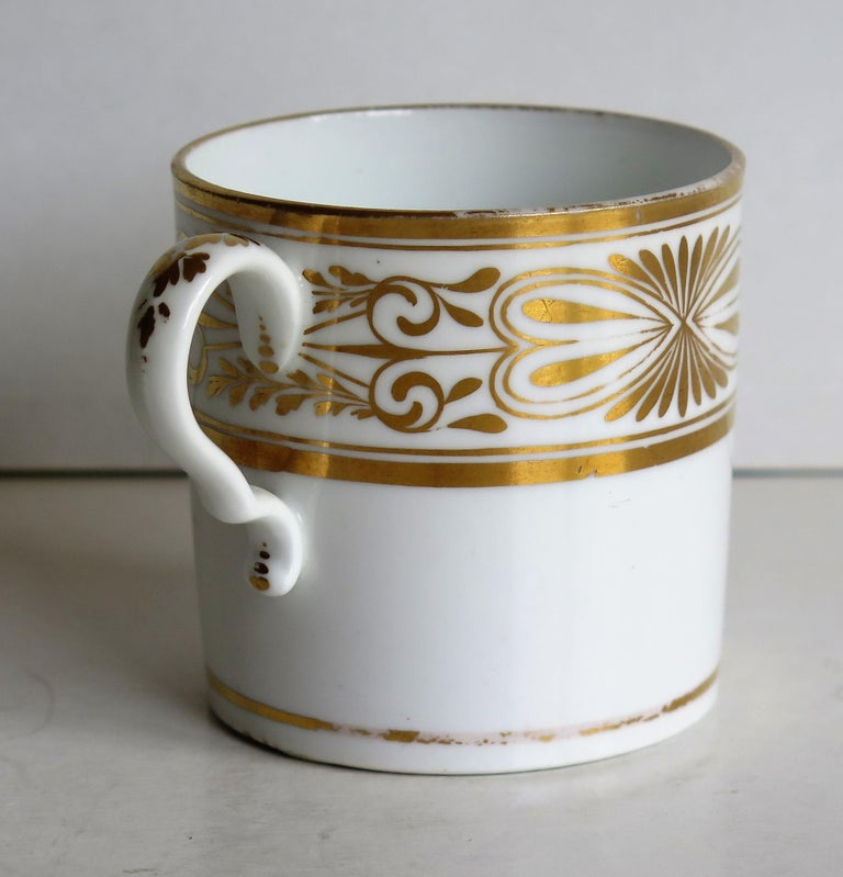 Early 19th Century Spode Porcelain Coffee Can Hand Gilded Pattern 1099, Ca 1810 For Sale 3