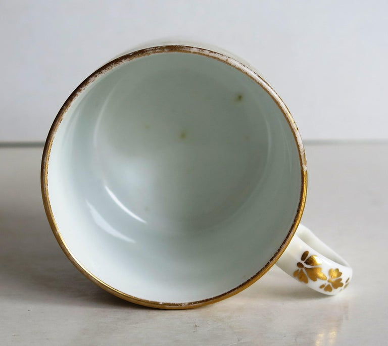 Early 19th Century Spode Porcelain Coffee Can Hand Gilded Pattern 1099, Ca 1810 For Sale 8