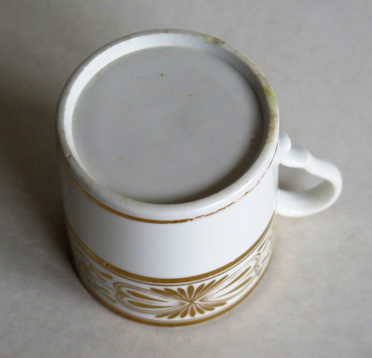 Early 19th Century Spode Porcelain Coffee Can Hand Gilded Pattern 1099, Ca 1810 For Sale 9