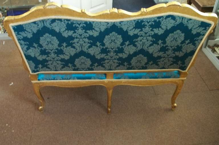 Mid-19th Century Settee or Sofa Louis XV Style Giltwood, English, circa 1850 For Sale 5