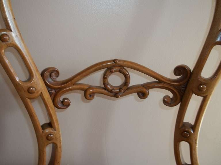 Hand-Carved Mid-19th Century Side Chair Hand Carved Wool Work Seat, Victorian, circa 1850 For Sale