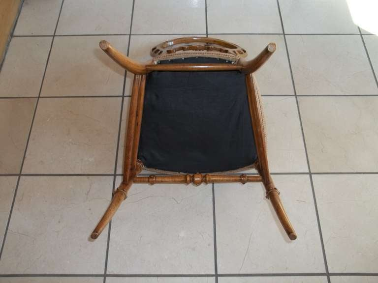 Mid-19th Century Side Chair Hand Carved Wool Work Seat, Victorian, circa 1850 For Sale 4