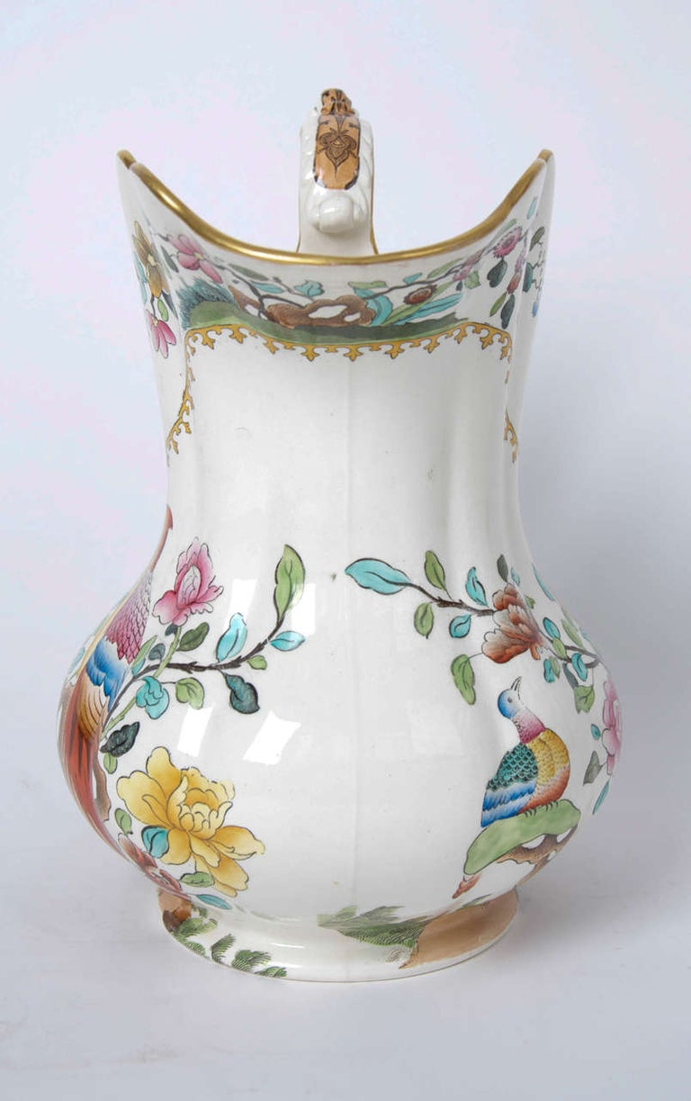Victorian Spode Copeland Large Pitcher or Jug in Pheasant Pattern, circa 1891 In Good Condition For Sale In Lincoln, Lincolnshire